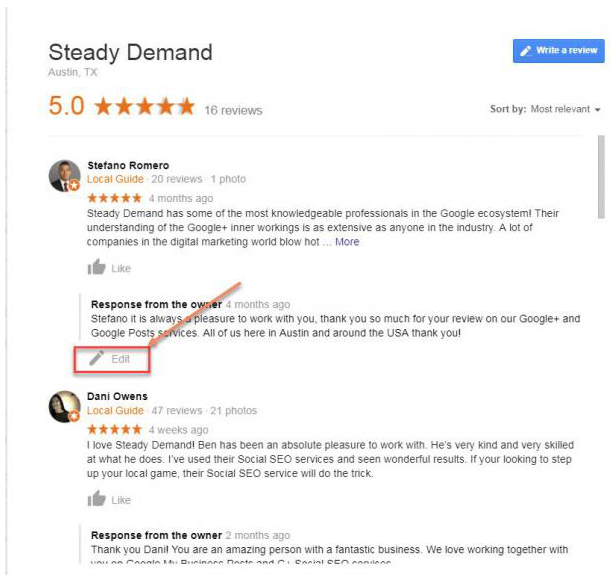 Google Now Allows You to Edit Your Reviews Directly from the Knowledge Panel